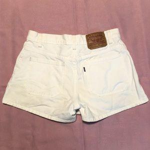 VTG 90s Levi's White Black Tab Summer Shorts